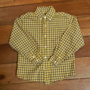IZOD Boy's Long Sleeve Plaid Button Down Shirt